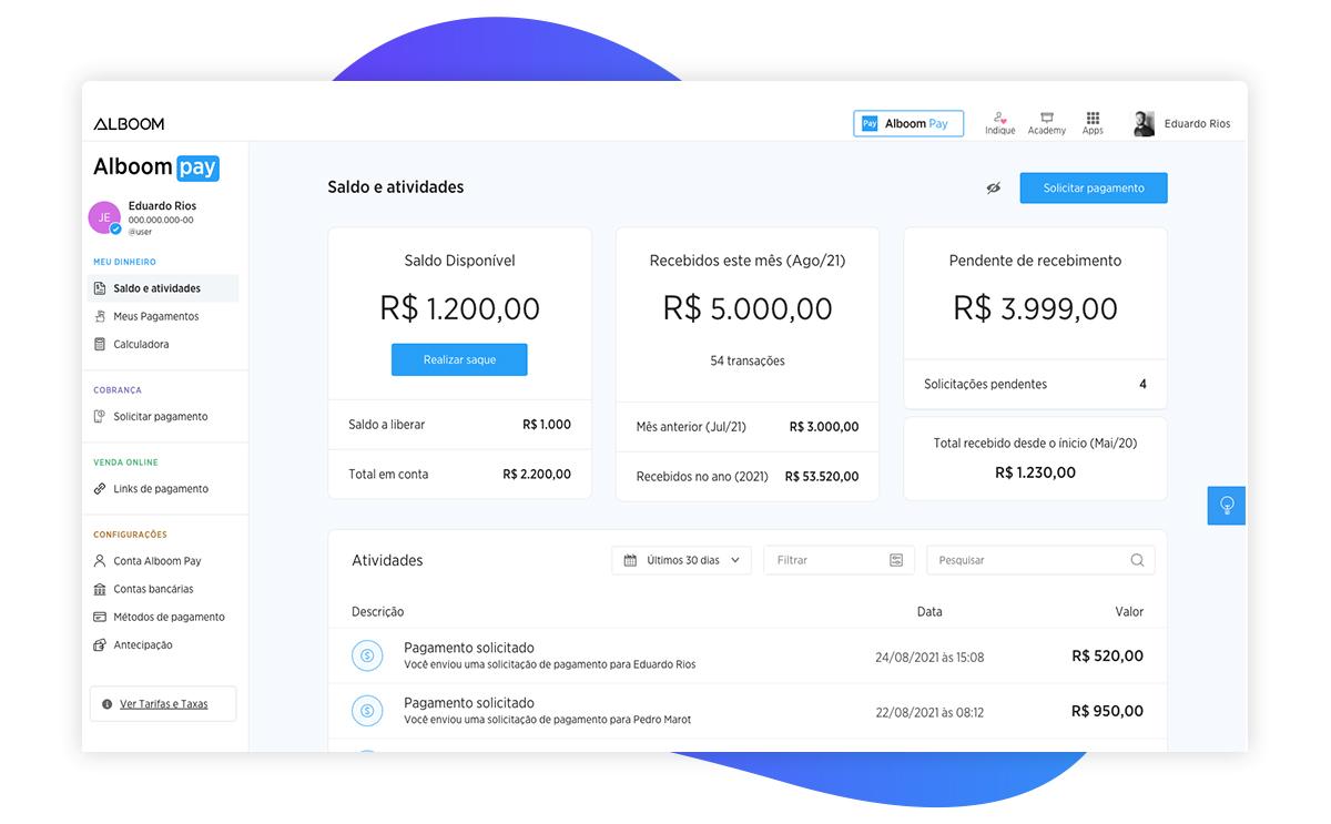 pagina-de-conta-alboom-pay